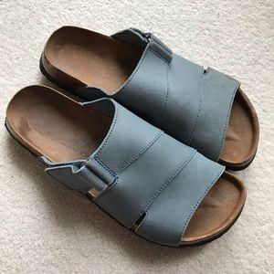 BIRKENSTOCK BETULA Leather Blue Sandals